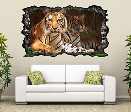 Schlafzimmer Lounge Natur Tiere Wand Abziehbilder Löwe Wandaufkleber 3D Optik