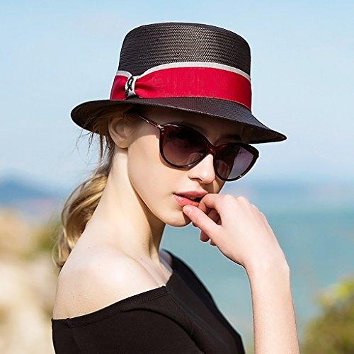 Simple La Playa De Vacaciones Sunhat Las Compras Manera Del Paja Sombrero Sol aX5nqwH