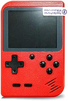 Flybiz Consola de Juegos Portátil, 3 Pulgadas Consola de Juegos portátil Pantalla HD Consola de Juegos Retro con 400 Juegos, Soporte conectar TV, Regalo de Cumpleaños para los Niños Padres ,Rojo