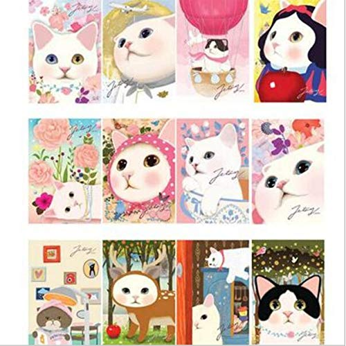 Best Quality - Cards & Invitations - 30pcs/lot vintage Cute Cats choo Postcards group cartoon Christmas Card/Greeting Card/Postcard Gift H015 - by SeedWorld - 1 PCs ()