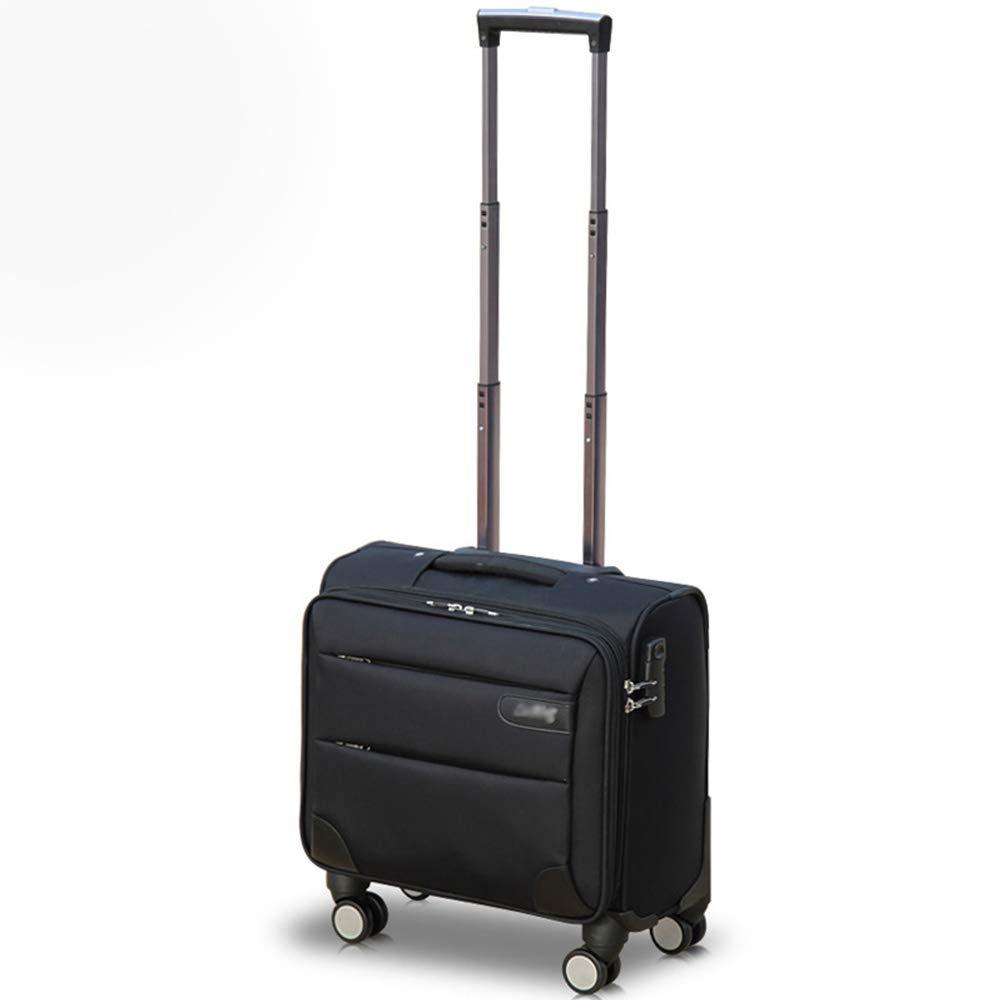 YD Luggage Set Pull Rod Box Mini Business Pull Box Waterproof Oxford Brandon Box Business Short Distance Travel Universal Wheel Box 2 Sizes Optional ///& Color : Black, Size : 362036 cm