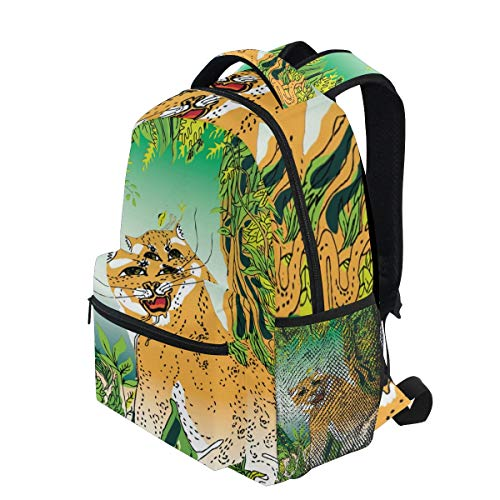 Wildcats Backpack Picnic - KVMV Colorful Drawing Wild Cat Jungle 16