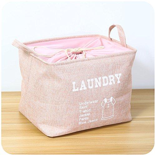 Luckyfree Panier à linge en coton d'vêtements sales jouets Panier Panier de stockage des débris, un snack-Rose