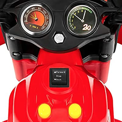 Best Choice Products Kids Ride On Motorcycle 6V Toy Battery Powered Electric 3 Wheel Power Bicyle, Red: Toys & Games