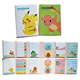 Pokemon Sticky Notes Pads Bookmark Pikachu Sticker Memo Pad Tab Note Set of 2