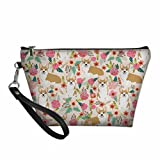 Summer Waterproof Pembroke Corgi Lady Travel Toiletry Case Make Up Bags - 3PC/SET