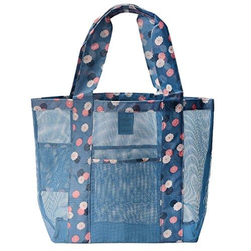DOUN Mesh Beach Bags, sand away beach mesh bag shopping bag Outdoor Travel Shoulder Bag - - Without Juicy Glasses J