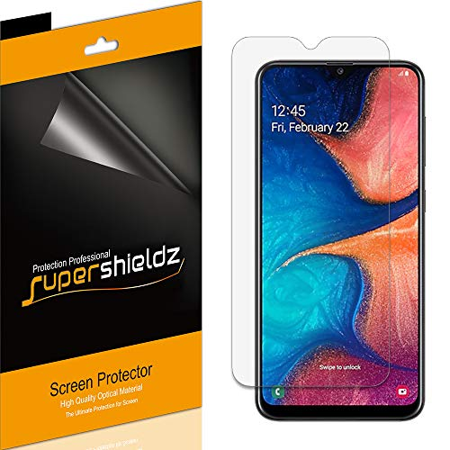 (6 Pack) Supershieldz for Samsung Galaxy A20 Screen Protector, High Definition Clear Shield (PET)