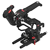 JTZ DP30 JL-JS7 Camera Cage with 15mm Rail Rod Baseplate Rig and Top Handle+Electronic Handle Grip for SONY A7,A7II,A7R,A7RII,A7S,A7SII DSLR Cameras