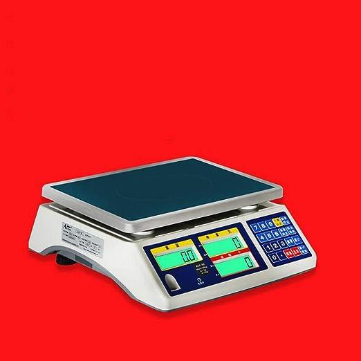LLRDIAN Balanza de conteo electrónico ·3, 6, 15, 30 kg Puntos industriales precisión electrónica pesaje Scale báscula de Plataforma electrónica de Alta ...
