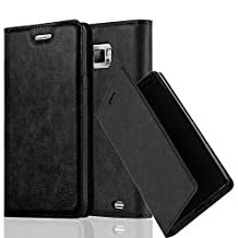 Cadorabo - Book Style Wallet with Stand Function for Samsung Galaxy S2 (i9100) with Card Slot and invisible Magnetic Closure - Etui Case Cover Protection in NIGHT-BLACK