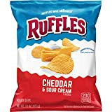 Ruffles Cheddar & Sour Cream Flavored Potato Chips, 1.5 Ounce (Pack of 64)