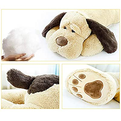 ERDAO Giant Dog Plush Pillow,Soft Big Dogs Stuffed Animal Toys Doll Large Stuffed Puppy Gifts for Girls Kids, 51.1 inch: Toys & Games