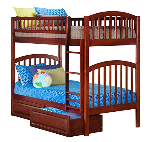 Atlantic Furniture Richland Bunk Twin And Twin With RPBD Ant