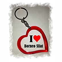 "Exclusive Gift Idea: Heart Keyring ""I Love Borneo Silat"", a Great gift that comes from the Heart - Backpack pendant - love pendant - Keychains- Keyring- Christmas Gift"