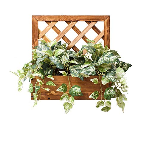 - Amgker Modern Simple Pine Solid Wood Flower Pot Holder Wall-Mounted Grid Strip Wall Balcony Living Room Flower Stand Succulents Plant Pot Rack (Size : Grid Size)