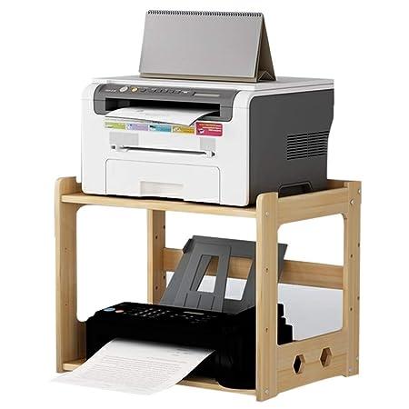 Estante para impresora de madera maciza para copiar archivos ...