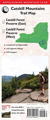 Amc Catskill Mountains Trail Map 1 2  Catskill Forest Preserve  East  And Catskill Forest Preserve  West   Appalachian Mountain Club  Catskill Mountain Trails