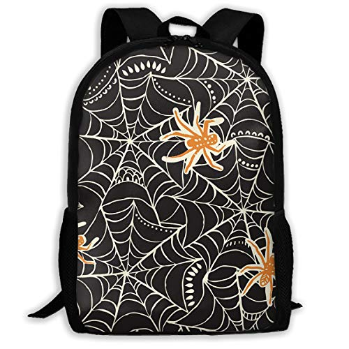 Packable Travel Hiking Backpack, Halloween Party Cool Spider Web Design Handy Outdoor Casual Daypacks for Climbing Camping Backpacking Cycling Bicycle Airplane Military Bag for Men Women
