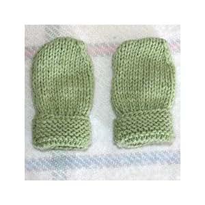 Manoplas bebé: hecho a mano–verde/niño prematuro