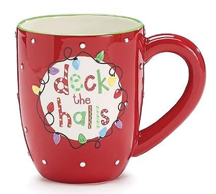 deck the halls 15oz christmas coffee mug - Christmas Coffee Cups