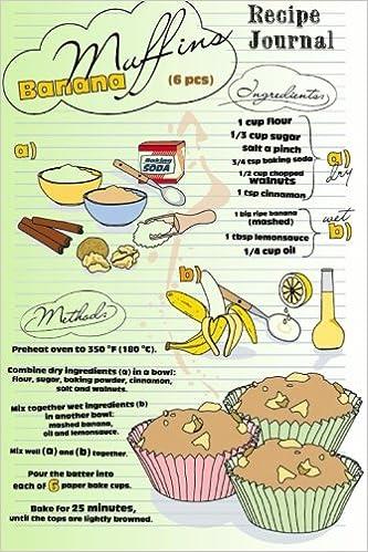 Recipe journal banana muffins recipe cooking journal lined and recipe journal banana muffins recipe cooking journal lined and numbered blank cookbook 6 x 9 180 pages recipe journals cooking journals recipe forumfinder Gallery