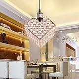 Cheap MSTAR Modern Crystal Chandelier Lighting 1-Light Pendant Light with Clear Crystal Beads for Living Room Dining Room Restaurant