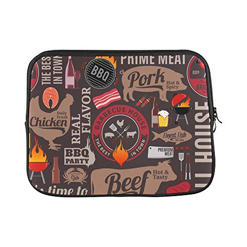 - Design Custom Beer Cafe Logo Dinner Burger Retro Design Art England Sleeve Soft Laptop Case Bag Pouch Skin for MacBook Air 11