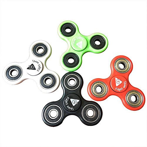 fidget work Tri Fidget Hand Spinner, Ultra Fast Bearings, Finger Toy, Great Gift, Black