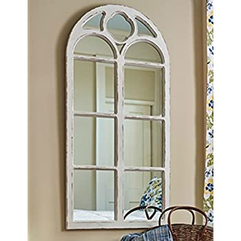 Well-liked Amazon.com: Shabby Chic Distressed White Wood Window Mirror with  FQ63