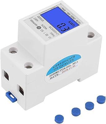 un 230 V électricité énergie Compteur d/'énergie monophasé DIN Rail rétro-éclairage 32 50 Hz 5
