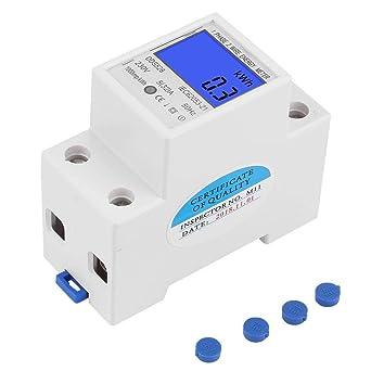 DDS015 Contador de energ/ía monof/ásico 5-80 A contador de kWh el/éctrico pantalla LCD 230 V 50 Hz vati/ómetro