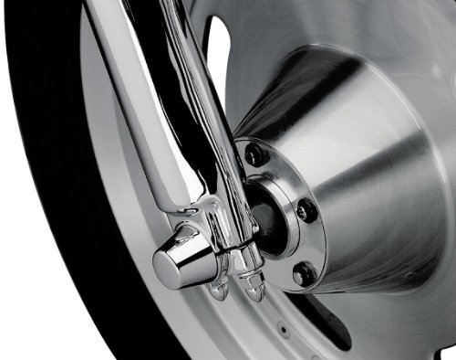 88-06 HARLEY FLSTC: Kuryakyn Front Axle Nut Covers - Kuryakyn Axle