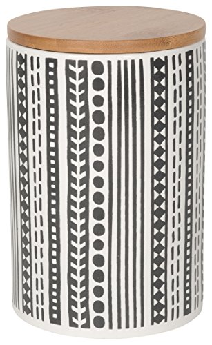 - Now Designs Embossed Storage Canister, Large, Canyon Design