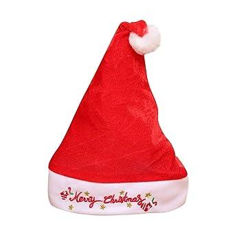 Chshe®-Navidad Sombrero, Santa Sombrero Decoración, Navidad Red ...