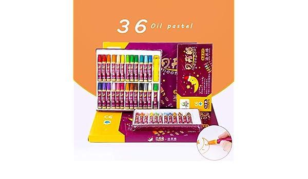 Pasteles al óleo 48/36/24 color Crayones 36 colores: Amazon ...