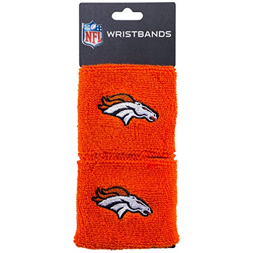 Franklin Sports Denver Broncos Wristbands - 2.5