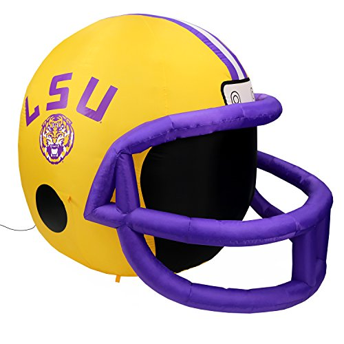 NCAA LSU Tigers Team Inflatable Lawn Helmet, Yellow, One Size (Football Helmet Inflatable)
