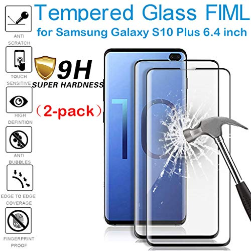 BINMUO 2PC Tempered Glass Screen Protector Film for Samsung Galaxy S10 Plus 6.4 inch/S10e 5.8inch/S10 6.1inch