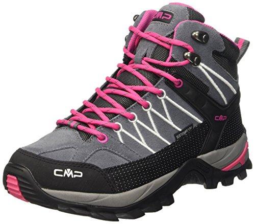 CMP Damen Trekking Schuhe Rigel Mid, grau (grey fuxia ice 103Q), 42, 3Q12946