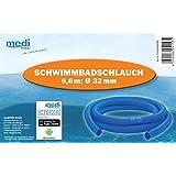 """Schwimmbadschlauch BLAU Muffe Schwimmschlauch Pool """"Made in EU"""" 32mm - 6,6m von mediPOOL"""
