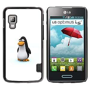 Paccase / SLIM PC / Aliminium Casa Carcasa Funda Case Cover - Funny Cute Penguin - LG Optimus L5 II Dual E455 E460