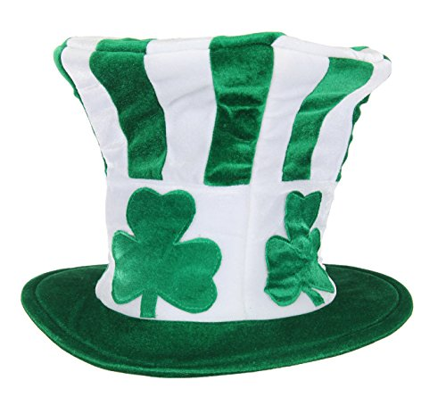 elope St. Patrick's Shamrock Uncle Sam Party Hat Green for Adults ()