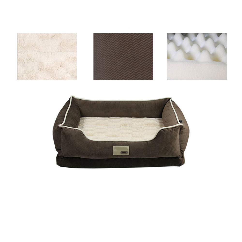 Gwanna Washable Dog bed, Thick Warm Durable Pet nest, Small Medium Large Dogs Cat, Kennel-C S Soft Pad for Pets Sleeping