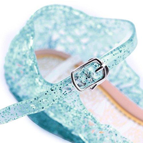 Neiges Uraqt Bleu Enfant Bleu33 Fille Petite Princesse Chaussures Pour Reine Déguisement Ballerines f7qrBfFU