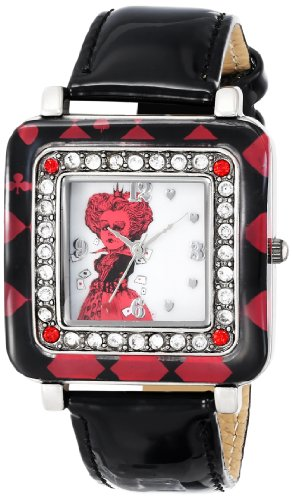 Alice in Wonderland Women's AL1012 Red Queen White Dial Black Strap (Queen Of Hearts New Alice In Wonderland)