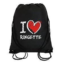 Idakoos I love Ringette chalk style - Sports - Sport Bag