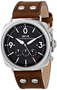 "AVI-8 Men's AV-4022-01 ""Lancaster Bomber"" Stainless Steel Watch with Leather Band"