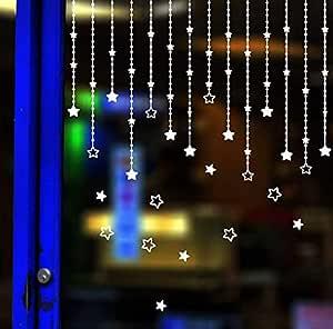 DIY Star Pendant Hanging Christmas Decoration Wall Decals Sitting Room Window Glass sticker