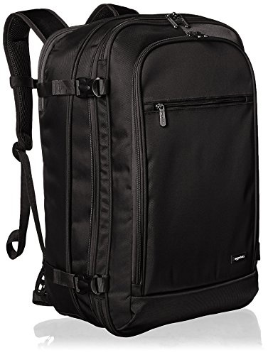 AmazonBasics Carry On Travel Backpack - Black (Best Travel Luggage Backpack)
